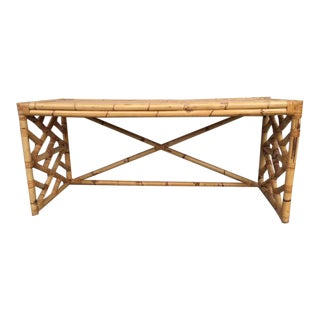 Tropical Chic Bamboo & Rattan Console