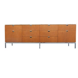 Florence Knoll Teak & Marble Credenza