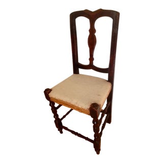 Early 19C Continental Baroque Style Side Chair
