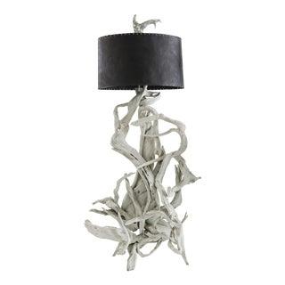 Vintage Driftwood Floor Lamp