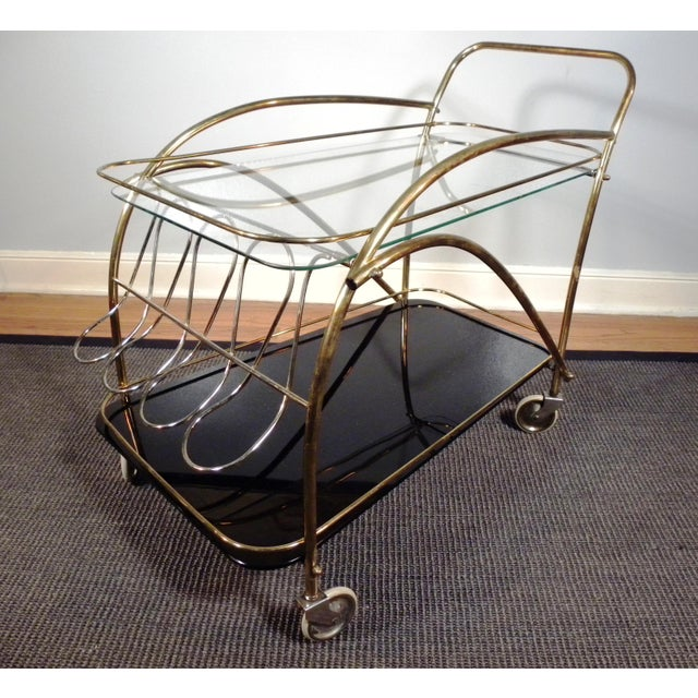 Vintage Deco Style Bar Cart - Image 2 of 8
