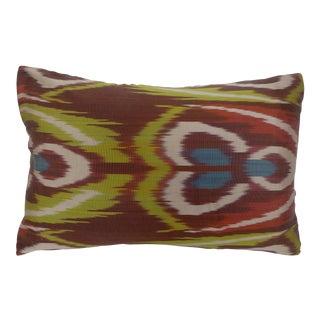Silk Ikat Lumbar Pillow