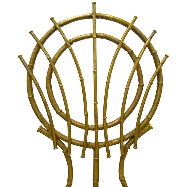 Image of 1960s Petite Gilt Bamboo-Style Chairs - A Pair