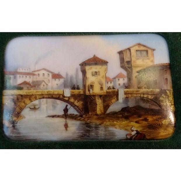 Handpainted Vignette Plaques of European Landscape - Image 4 of 8