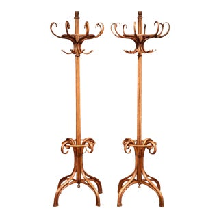 "Mid-20th Century Bentwood ""Perroquet"" Coat Racks Thonet Style, 1932 - A Pair"