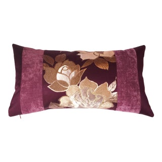 Japanese Silk Obi & Velvet Pillow