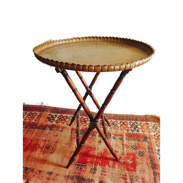 Vintage Etched Turkish Tea Tray - Image 5 of 7