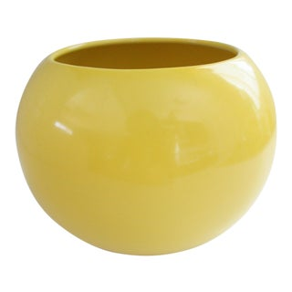 Mid-Century Yellow Ceramic Vase