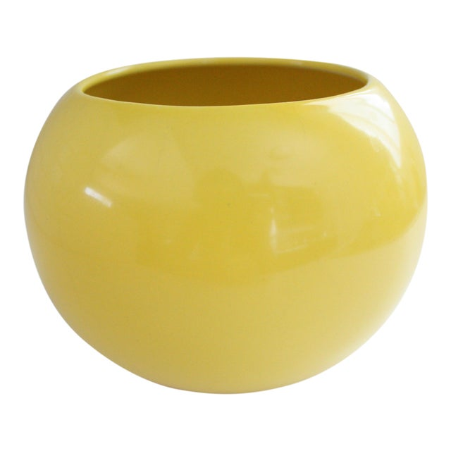 Mid-Century Yellow Ceramic Vase - Image 1 of 5