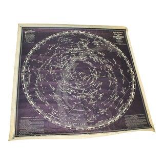 Vintage Rand McNally Star Chart for the Northern Skies