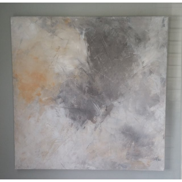 """""""Grey Sky"""" Abstract Painting by Kris Gould - Image 3 of 5"""