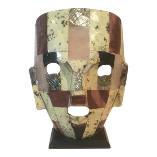 Mid-Century Handmade Mother of Pearl Mask