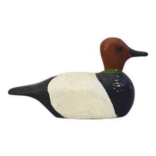 Circa 1940s Carved Wood Duck Decoy