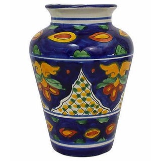 Mexican Hand-Painted Vase