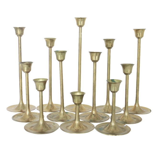 Brass Candlestick Collection - Set of 12 - Image 1 of 7