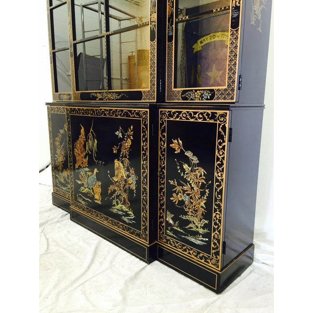Vintage 1980s Drexel Heritage Asian Chinoiserie China Cabinet - Image 9 of 11