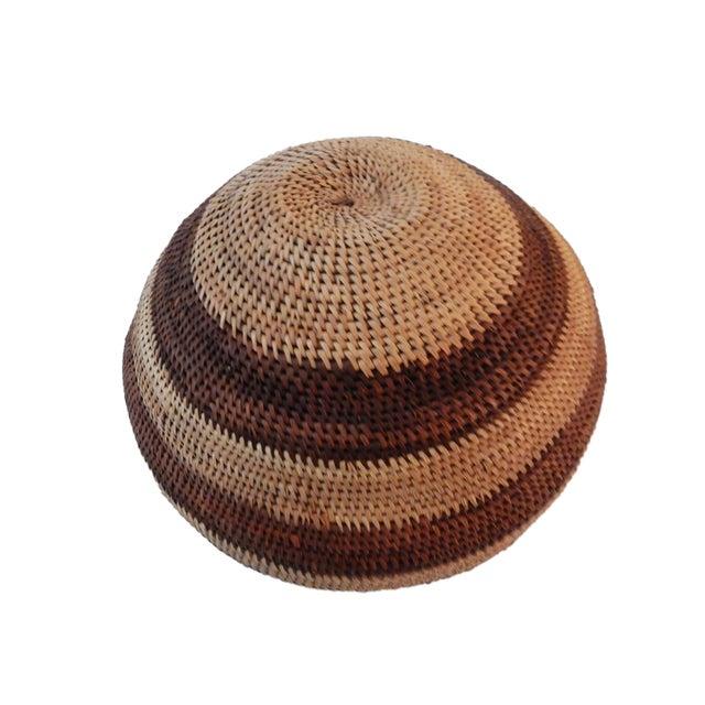 Botswana Primitive Folk Art Handmade African Basket - Image 3 of 6