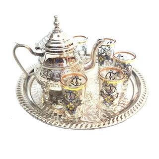 Moroccan Berber Design Tea Set - Set of 6