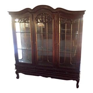 Glass Paneled Display Hutch