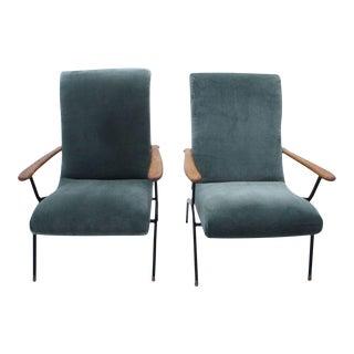 Gio Ponti Style Italian Armchairs- A Pair