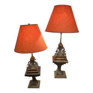 Toll Barn Decoration Lamps - A Pair