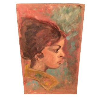 Profile of a Woman's Face Oil Painting