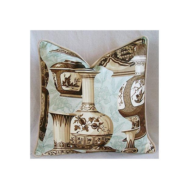 Custom Braemore Chinoiserie Vase Pillows - a Pair - Image 3 of 9