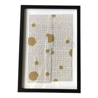 Gold Mud Cloth Framed Collage