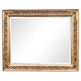 Vintage Gilded Quatrefoil Horizontal Mirror