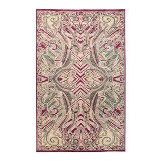 """Eclectic Hand Knotted Area Rug - 6' 1"""" X 9' 10"""""""