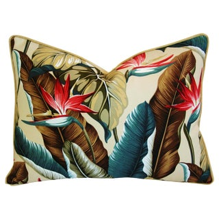 Custom Designer Tropical Bird of Paradise Pillow