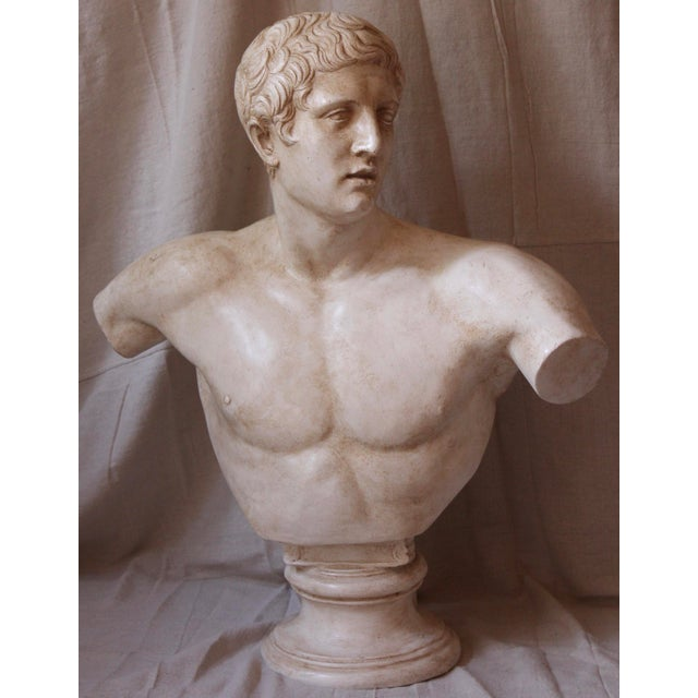 Vintage Bust of a Roman Athlete - Image 2 of 8