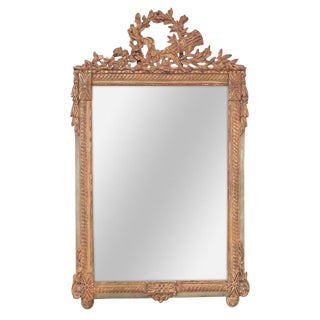 French Louis XVI Carved Mirror