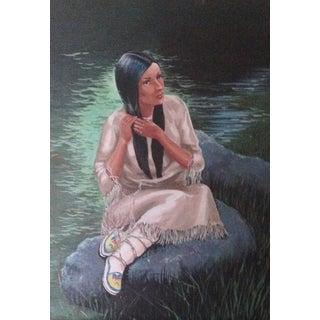 Native American Woman Oil Portrait