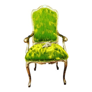 Emerald Green Velvet Chairs - A Pair