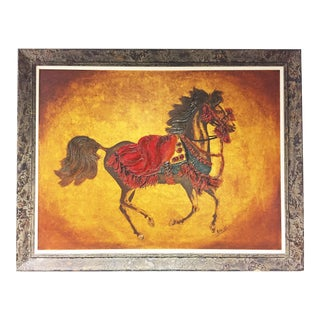Mid Century Modern Giclee Print of Galloping Horse