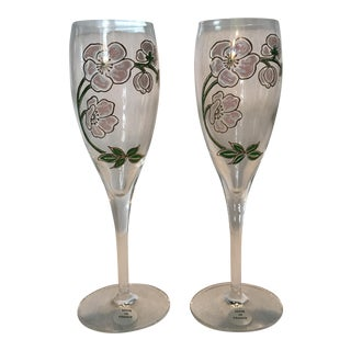 Perrier Jouet Champagne Flutes- A Pair