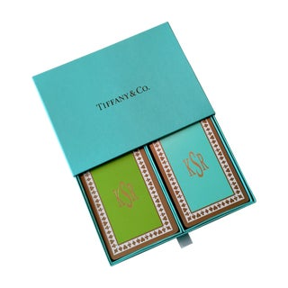 Tiffany & Co. Monogrammed Playing Card 2-Deck Set