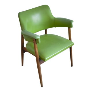 Vintage Danish Lime Green Arm Chair