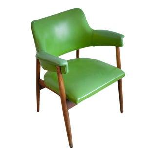 Vintage Danish Lime Green Arm Chair