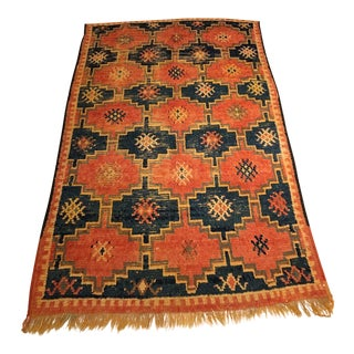 Blue and Red Moroccan Rug