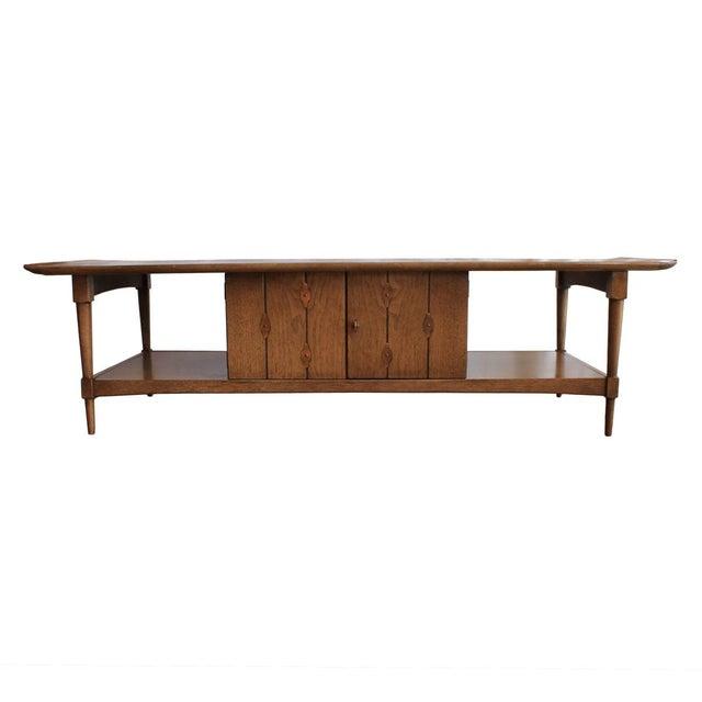 Mid-Century Walnut 'Surfboard' Coffee Table - Image 5 of 9