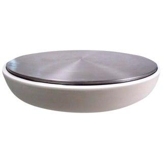 Mid-Century Style Spun Aluminum Coffee Table