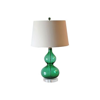 Kelly Green Blown Glass Lamp