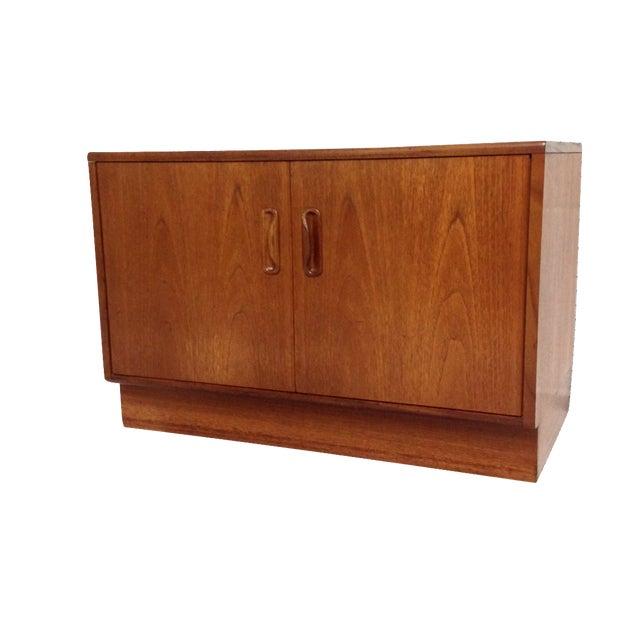 Mid-Century Two Door Teak Cabinet - Image 1 of 8