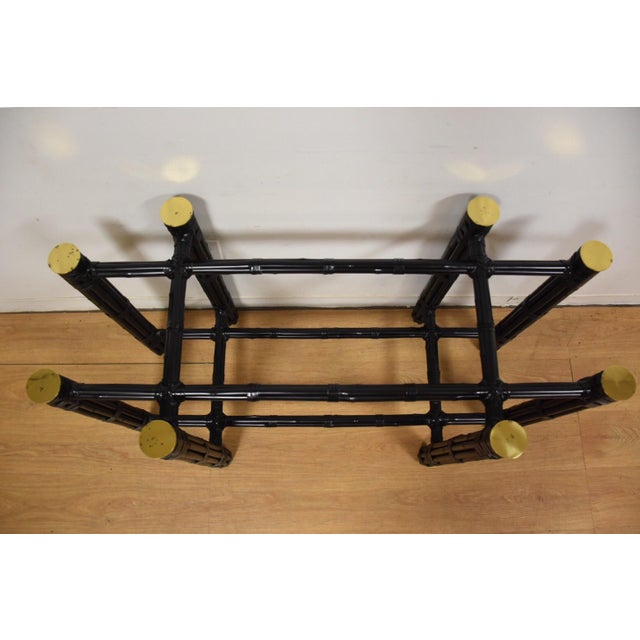 McGuire Black Bamboo Dining Table Base - Image 3 of 11
