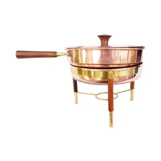 Mid-Century Modern Copper Serving Bain