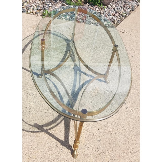 Image Of Labarge Hollywood Regency Brass Coffee Table