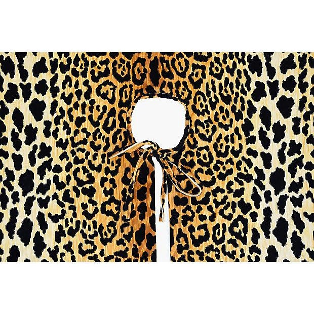 "Custom Tailored X-Large 55"" Leopard Velvety Christmas Tree Skirt - Image 3 of 11"