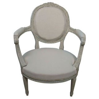 Antique Gustavian Style Armchairs - A Pair